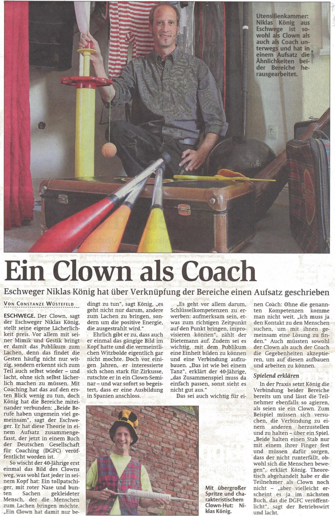 WR - 17.06.2015 - Ein Clown als Coach